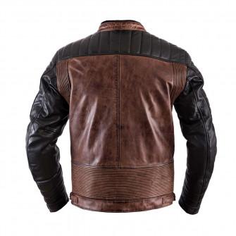 Helstons Cruiser Black Camel Leather Jacket