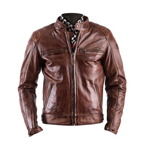 Helstons Track Camel Leather Jacket