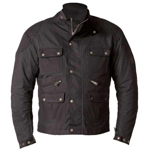 Helstons Hunt Waxed Cotton Black Jacket