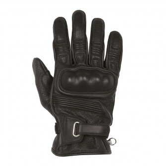 Helstons Strada Black Leather Gloves