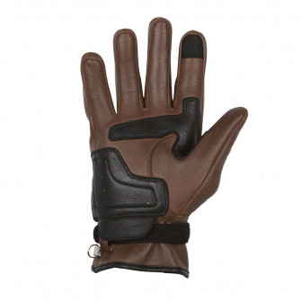 Helstons Strada Camel/Black Leather Gloves