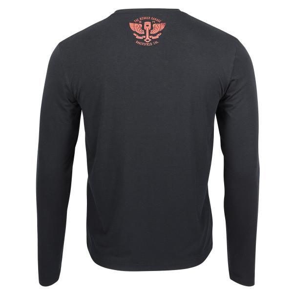 Rokker Performance Long Sleeve T-Shirt Bakersfield Black