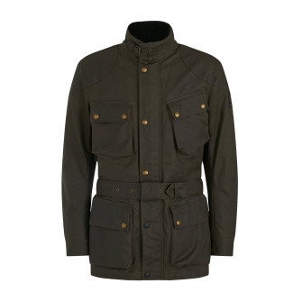 Belstaff Trialmaster Pro Waxed Cotton Jacket - Olive Green