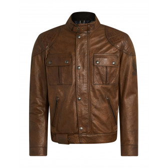 Belstaff Brooklands Leather Jacket - Burnt Cuero