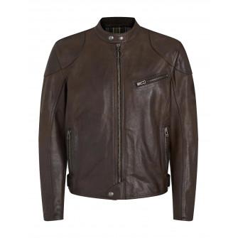 Belstaff Supreme Leather Jacket Black Brown