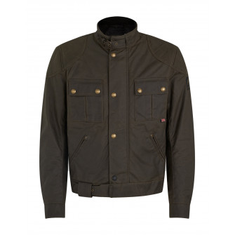 Belstaff Brooklands 2.0 Waxed Cotton Jacket - Olive Green