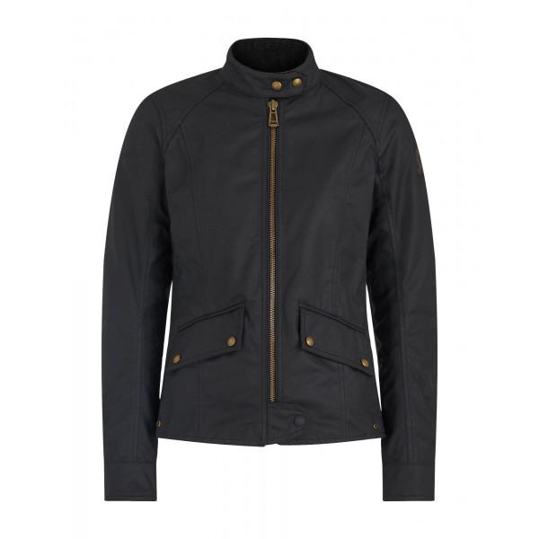 Belstaff Antrim Ladies Waxed Cotton Jacket - Black