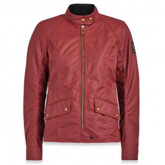 Belstaff Antrim Ladies Waxed Cotton Jacket - Racing Red