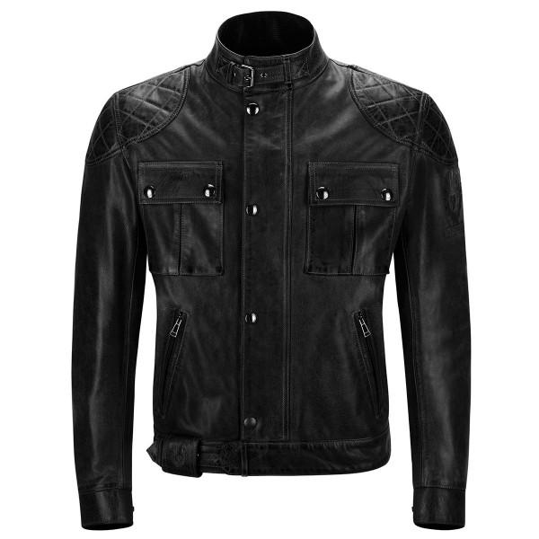 Belstaff Brooklands Leather Jacket - Antique Black