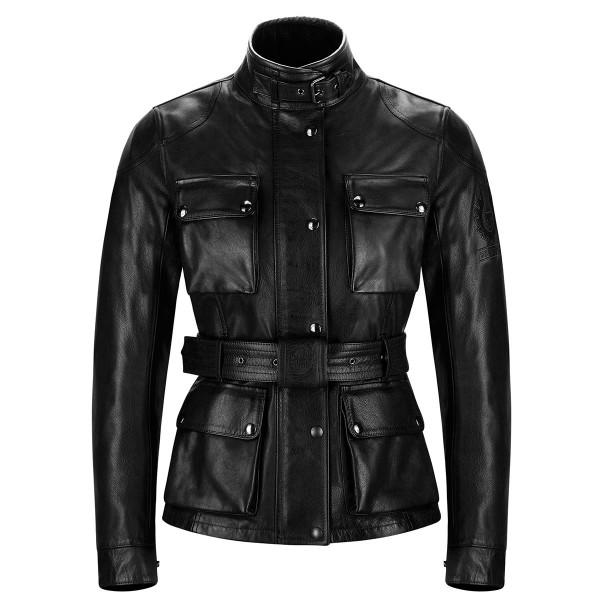 Belstaff Trialmaster Pro Ladies Leather Jacket - Antique Black