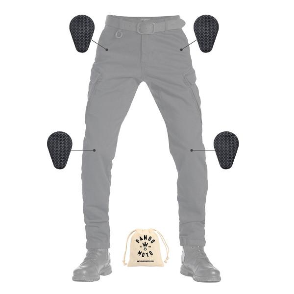 Pando Moto Mark Kev 01 Black Mens Cargo Pants