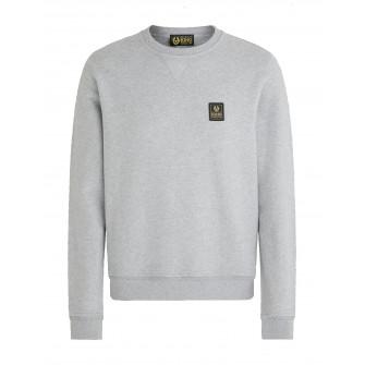 Belstaff Long Way Up Fleece Crew Neck Sweater Grey