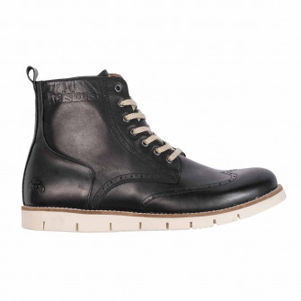 Helstons Holey Leather Black Boots