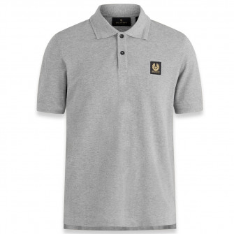 Belstaff Short Sleeve Polo Shirt Grey Melange