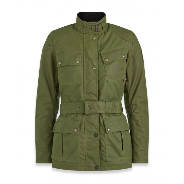 Belstaff Trialmaster Pro Ladies Waxed Cotton Jacket - Forest Green