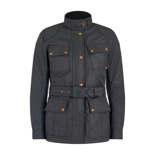 Belstaff Trialmaster Pro Ladies Waxed Cotton Jacket - Black