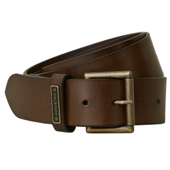 Belstaff Ledger Leather Belt - Dark Brown