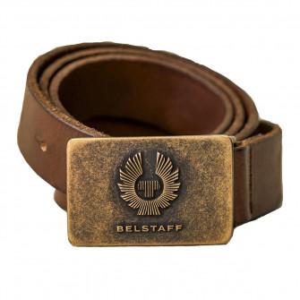 Belstaff Phoenix Leather Belt - Dark Brown