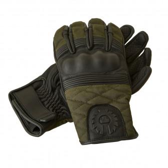 Belstaff Hampstead Gloves Black / Forest Green