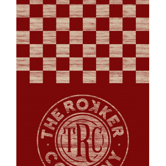 Rokker Neck Warmer Checker Board Red
