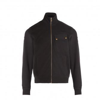 Belstaff Royal Enfield Zip Through Jersey - Black