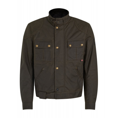 Belstaff Brooklands 2.0 Waxed Cotton Jacket - Olive Green