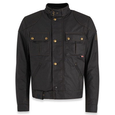 Belstaff Brooklands 2.0 Waxed Cotton Jacket - Black