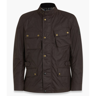 Belstaff Crosby Waxed Cotton Jacket - Mahogany