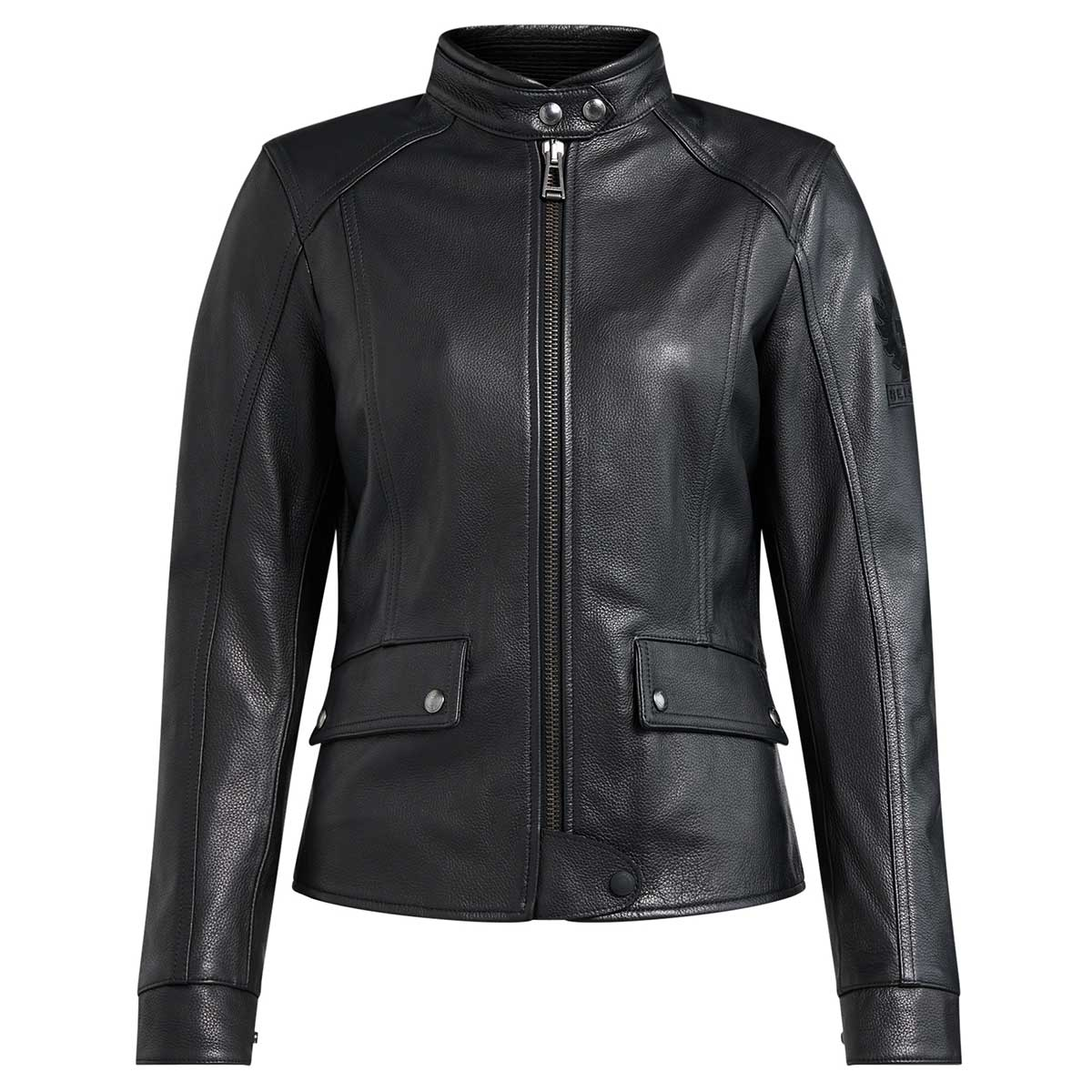 Belstaff Fairing Leather Ladies Jacket - Black