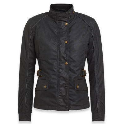 Belstaff Tourmaster Pro Ladies Wax Cotton Jacket - Black