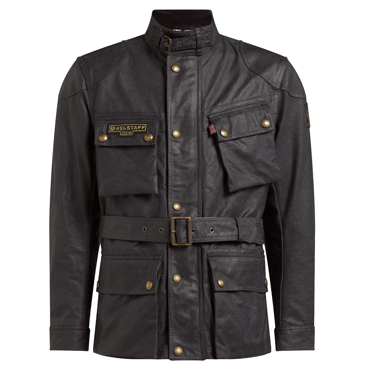 Belstaff Trialmaster Pro48 Waxed Cotton Jacket - Vintage Black