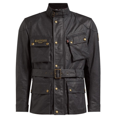 Belstaff Trialmaster Pro48 Waxed Cotton Jacket - Vintage Black