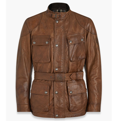 Belstaff Trialmaster Pro Hand Waxed Leather Jacket - Burnt Cuero