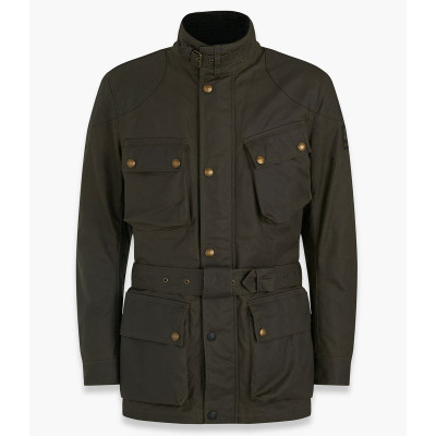 Belstaff Trialmaster Pro Waxed Cotton Jacket - Olive Green