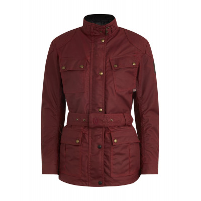 Belstaff Trialmaster Pro Ladies Waxed Cotton Jacket - Racing Red