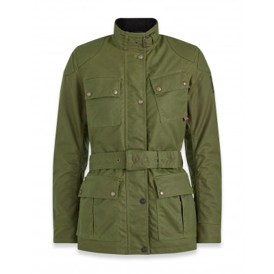 Belstaff Trialmaster Pro Ladies Waxed Cotton Jacket - Forest Green