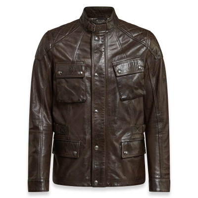 Belstaff Turner Leather Jacket - Black / Brown