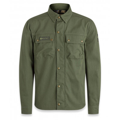 Belstaff Mansion Riding Shirt - Forest Green