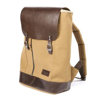 Helstons Backpack - Beige / Brown