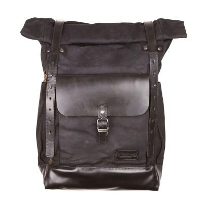 Helstons Paddock Roll Top Backpack - Black / Black