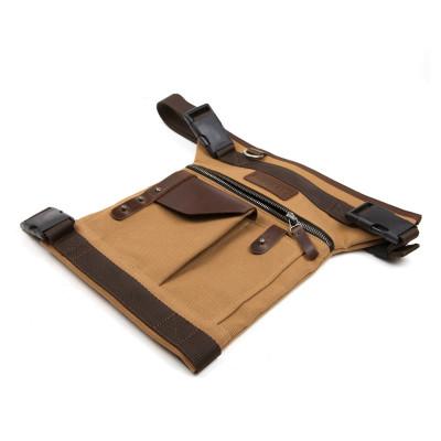 Helstons Leg Bag - Beige / Brown