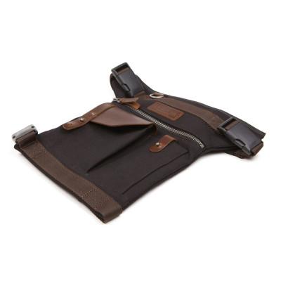 Helstons Leg Bag - Black / Brown