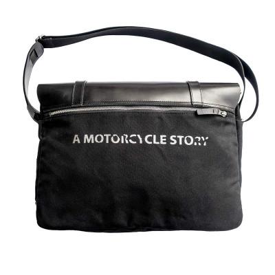 Helstons Messenger Bag - Black / Black