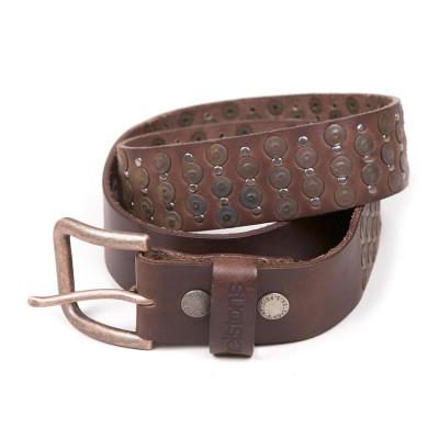 Helstons Studded Belt - Brown