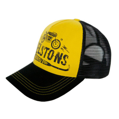 Helstons Cafe Racer Yellow/Black Cap