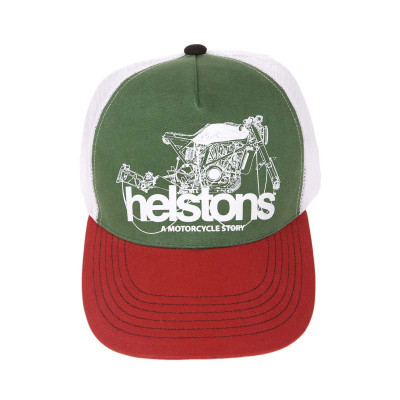 Helstons Chain Cap Red-Green-White