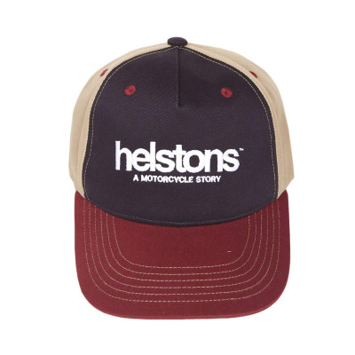 Helstons Corporate Bordeaux-Blue-Black Cap