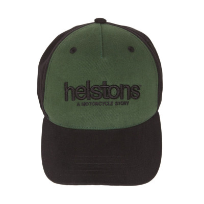 Helstons Corporate Black-Green Cap