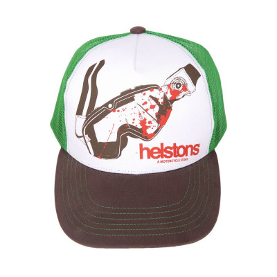 Helstons Goggles Cap Black-White-Green