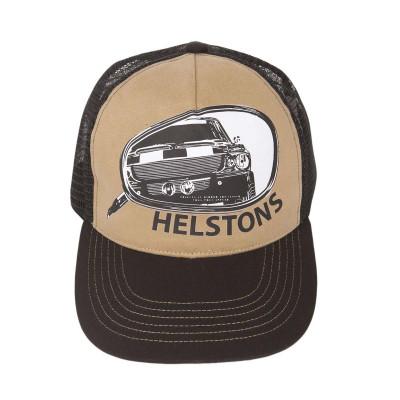 Helstons Retro Cap Black-Beige